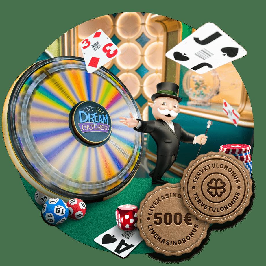 Tervetuliaistarjous live-kasinolle